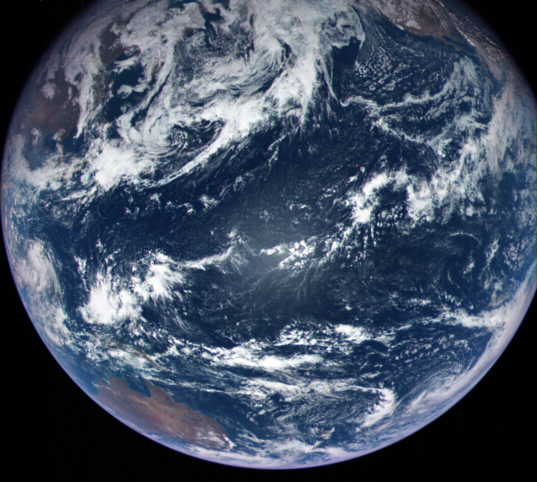 OSIRIS-REx MapCam view of Earth, just after flyby