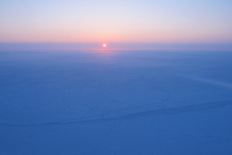 Sunrise over sea ice near the North Pole | The Planetary Society