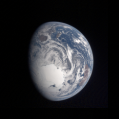 Earth from Hayabusa2 (reprocessed)