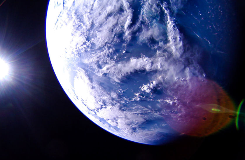Caribbean Sea from LightSail 2