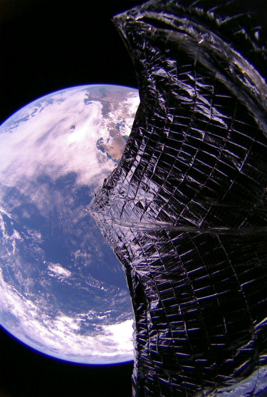 LightSail 2 Solar Sail over Baja California