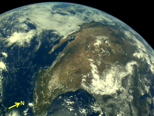 Earth from Chandrayaan-2 LI4 Camera on 3 August 2019