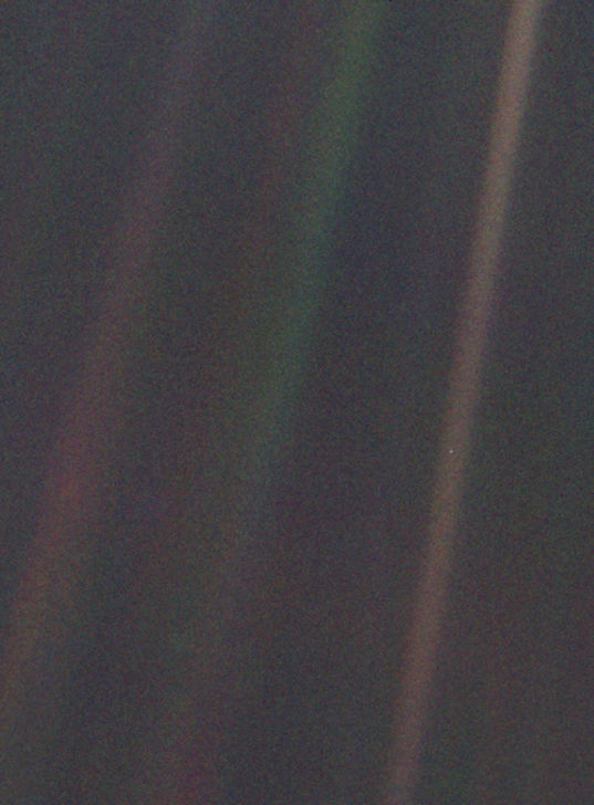The Pale Blue Dot from Voyager 1