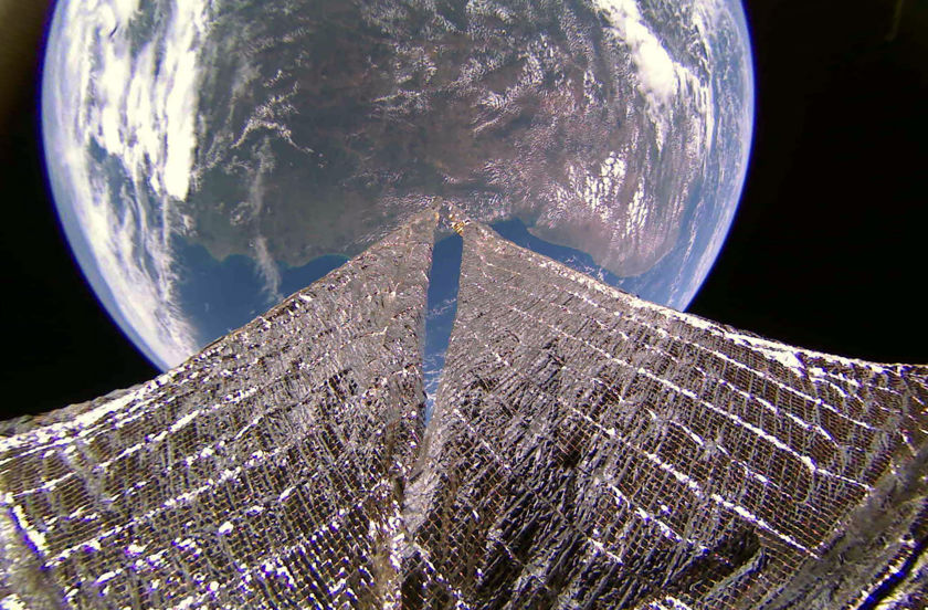 Northeast coast of South America from LightSail 2