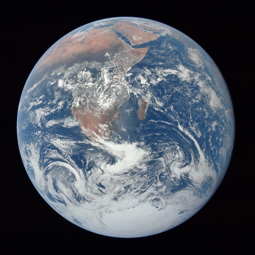 Blue Marble by Apollo 17, reprocessed