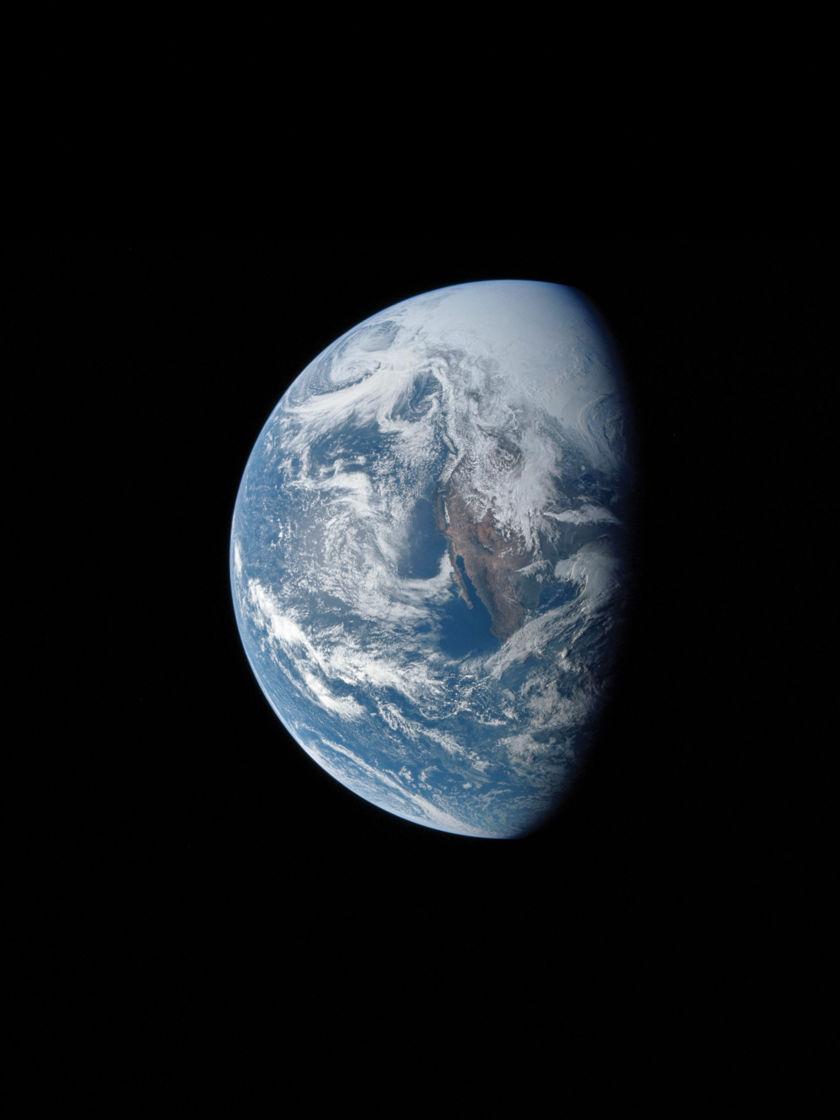 Earth by Apollo 13 crew