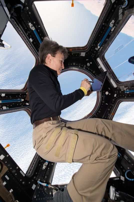 Peggy Whitson in the Cupola