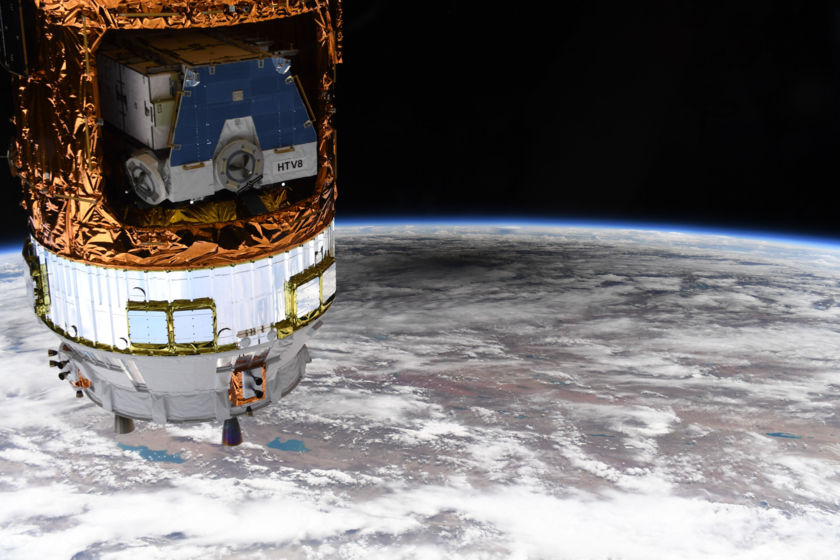 June 2020 Solar Eclipse from International Space Station