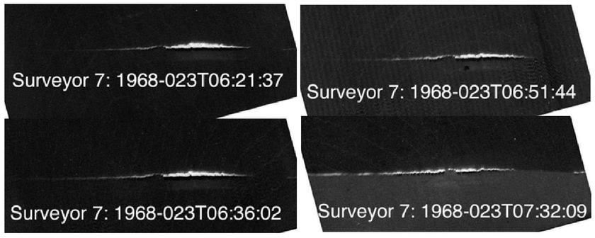 Surveyor 7 observes levitating dust