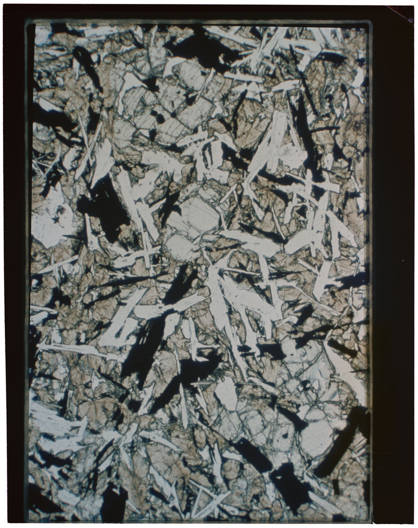 Apollo 11 sample 10062 thin section in ordinary transmitted light