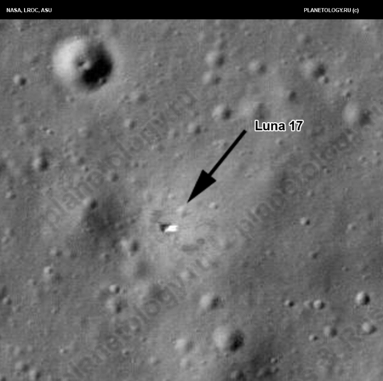 Luna 17 on the Moon