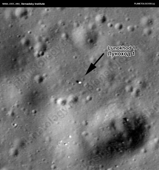 Lunokhod 1 on the Moon