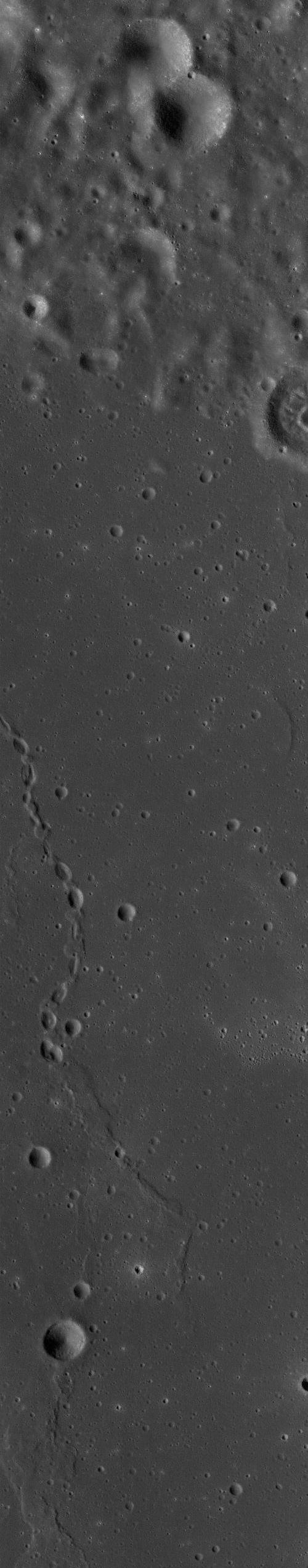 Chandrayaan-1 TMC image of a lunar crater chain