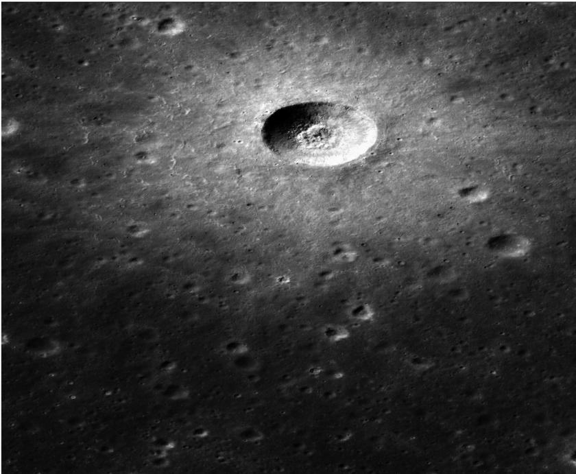 Bright Unnamed Crater in Sinus Iridum