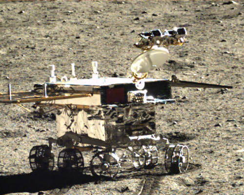 Yutu on the Moon: imaging the regolith