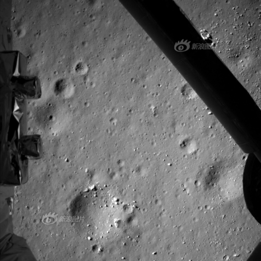 Chang'e 3 descent camera photo from an altitude of 99 meters