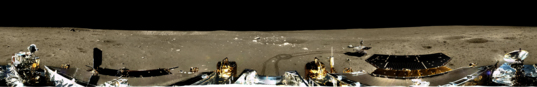 Panoramic view around the Chang'e-3 lander
