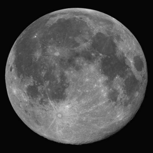 The supermoon as seen by Landsat 8