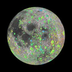 Catalog of large craters on the Moon