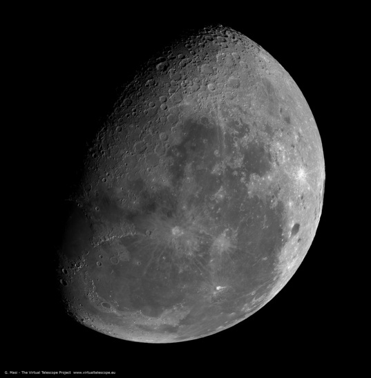 The gibbous Moon on July 13, 2009