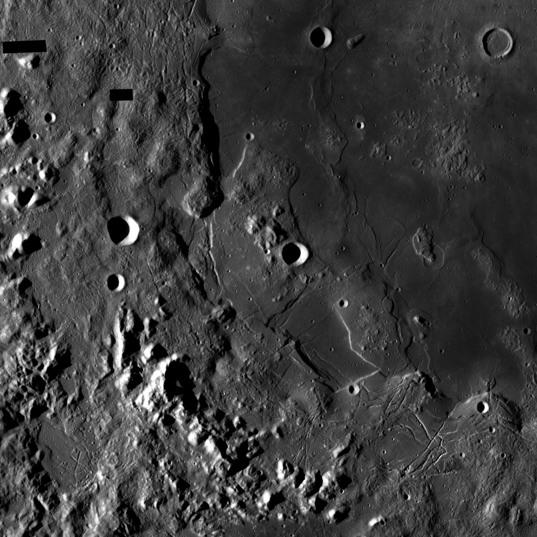 Orientale Basin on the Moon (detail)