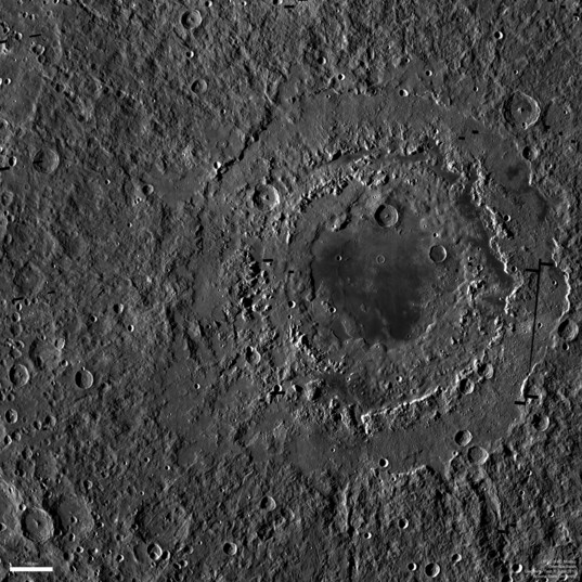 Orientale Basin on the Moon as seen in LROC wide-angle mosaic