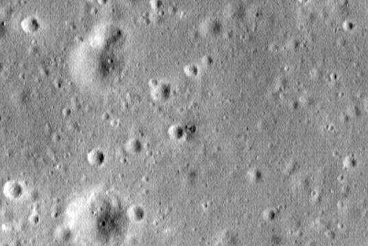 LRO's best view of the possible Surveyor retro-rocket
