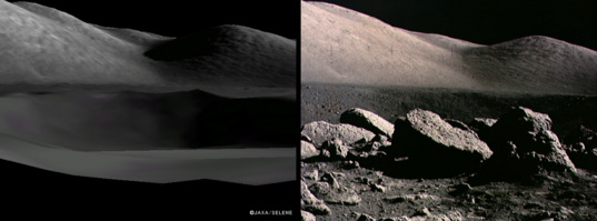 Comparison of Kaguya Terrain Camera and Apollo 17 images