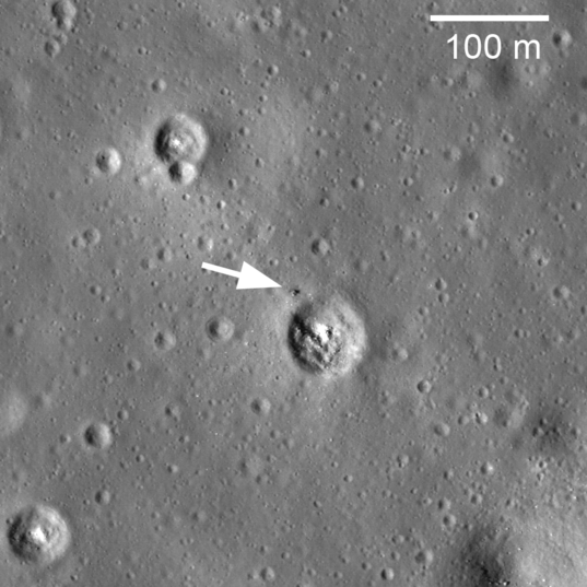 LROC view of Luna 24 on the Moon