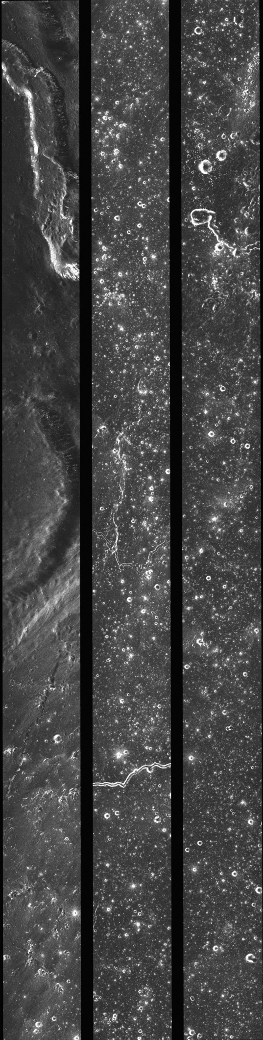 Mini-RF image strip across Oceanus Procellarum