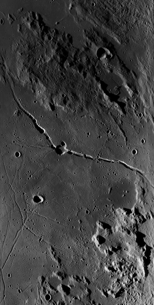Rima Hyginus from Lunar Reconnaissance Orbiter