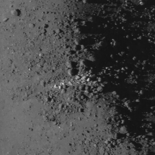 Necho crater detail: Bright boulders