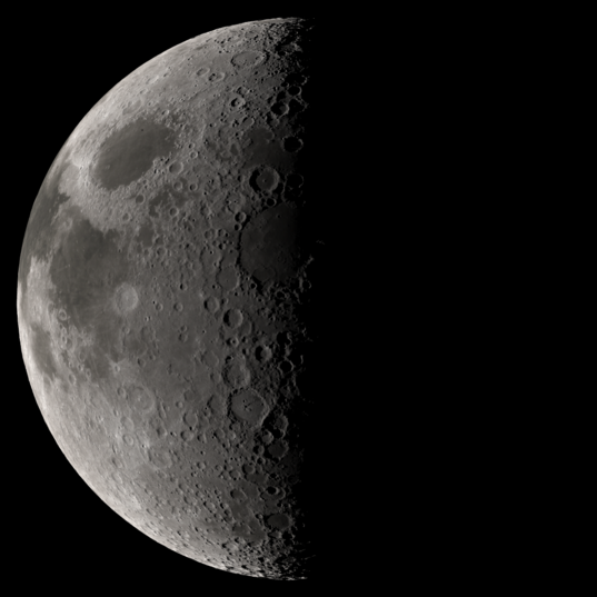 Simulated global view of the Moon using Kaguya topographic data
