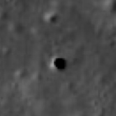 A probable cave skylight on the Moon