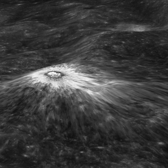 """""""Chappy"""" crater, on the rim of Chaplygin"""