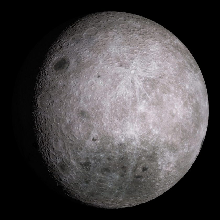 Simulated view of the lunar farside: 11 days old
