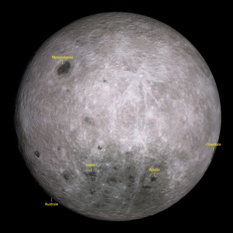 Possible landing sites for Chang'e 4