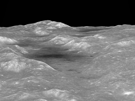 Oblique view of the Orientale basin