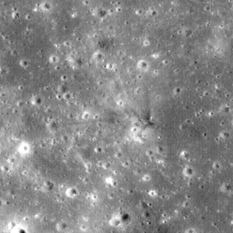 Apollo 14 LM ascent stage impact site
