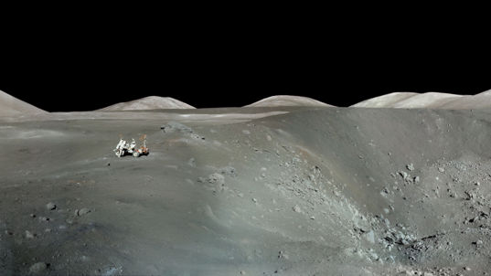 Harrison Schmitt at Shorty Crater