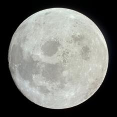Apollo 11 image of a nearly full Moon