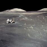Schmitt at Shorty Crater