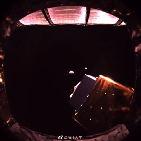 Queqiao, Moon, and Earth