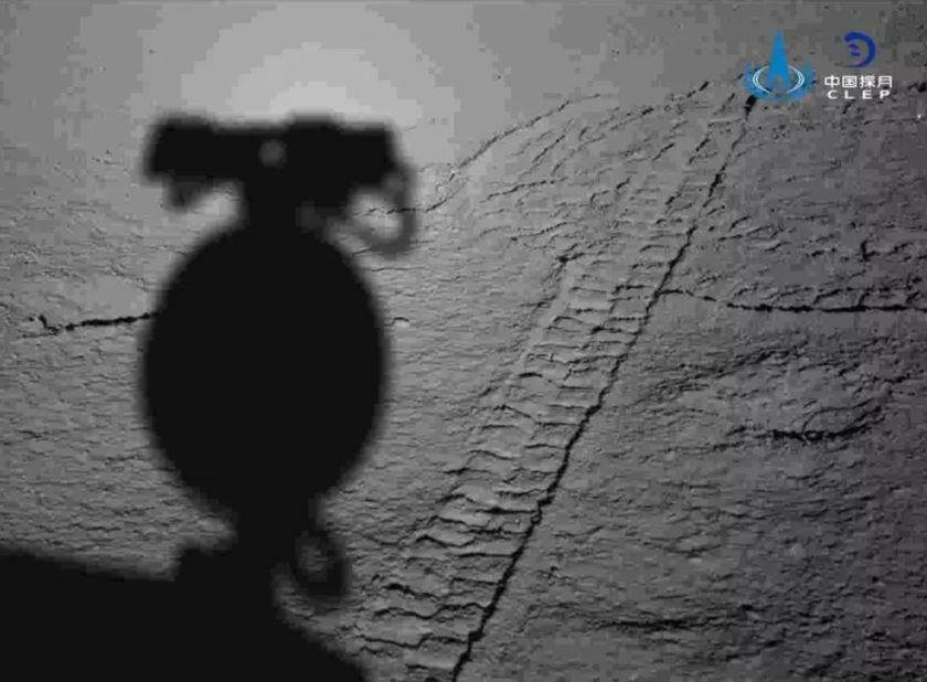 Yutu-2 sees its shadow