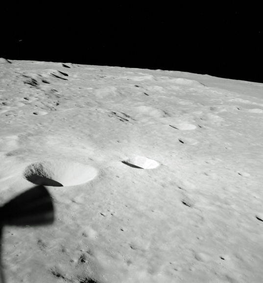 Apollo 10 low over the lunar surface