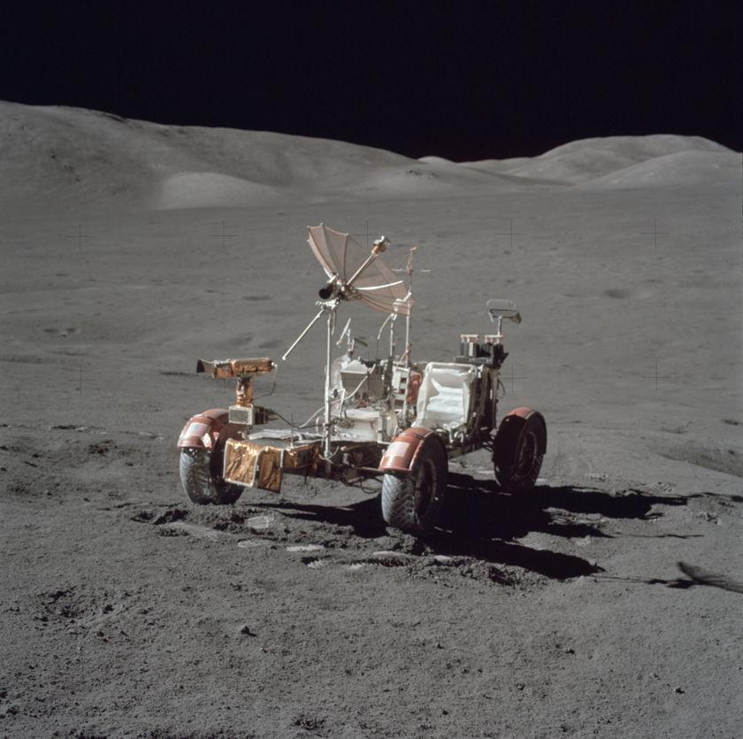 Apollo 17 LRV on EVA 3