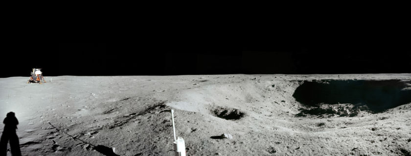Apollo 11 Little West Crater Panorama