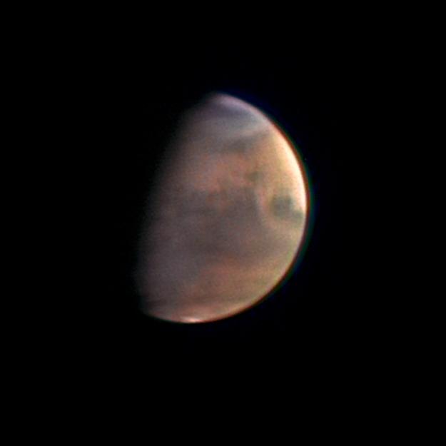 Mars Express approaches Mars, December 1, 2003