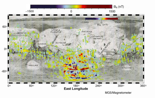 Magnetic map of Mars