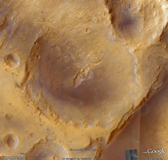Context image for Nili Fossae crater mineralogy (closeup)